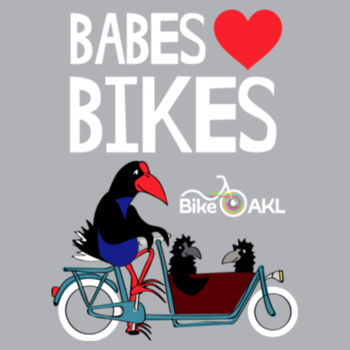Infant wee tee – Babes [heart] bikes – grey Design