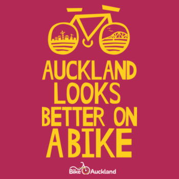 Crew neck – Auckland Looks Better on a Bike – pink Design