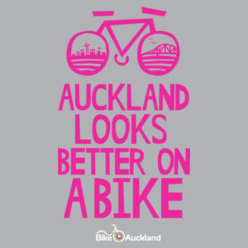 Crew neck – Auckland Looks Better on a Bike – grey Design