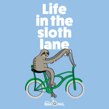 Life in the Sloth Lane – pink, blue Design