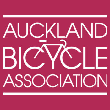 Crew neck – Auckland Bicycle Association – pink, red, charcoal Design