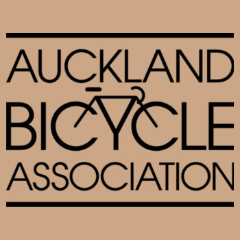 Crew neck – Auckland Bicycle Association – tan, pale blue Design