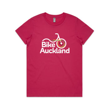 Crew neck – Bike Auckland – pink, black Thumbnail