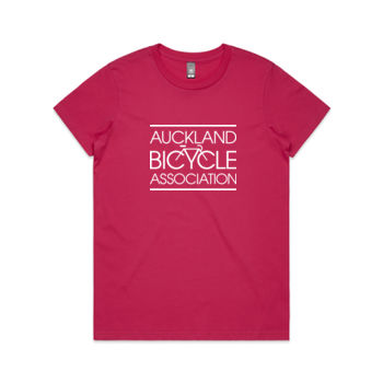 Crew neck – Auckland Bicycle Association – pink, red, charcoal Thumbnail