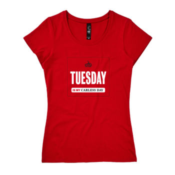 Scoop neck – Carless Days (Tuesday) – large print Thumbnail