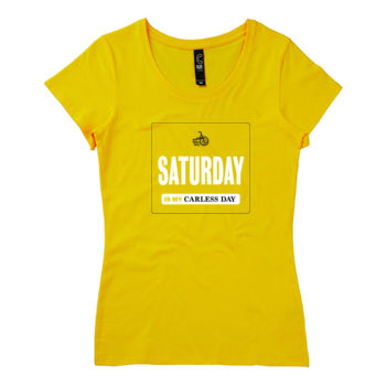 Scoop neck – Carless Days (Saturday) – large print Thumbnail